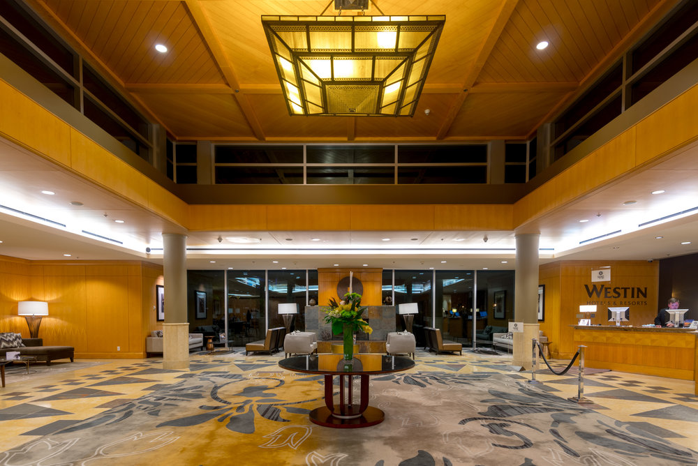 Inside the lobby of The Westin Bayshore, Vancouver