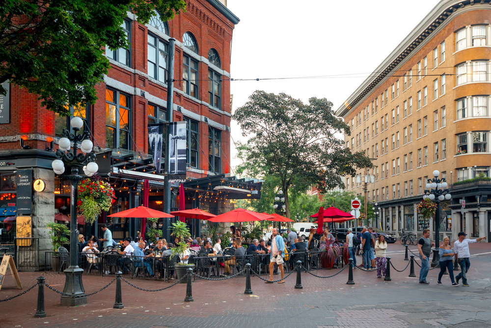 The trendy area of Gastown is just blocks from Skwachàys