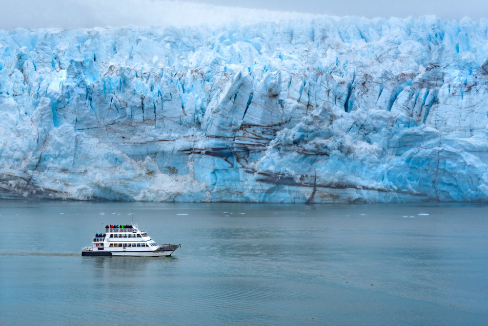 Viewing Glacier Bay from the comfort of our ship