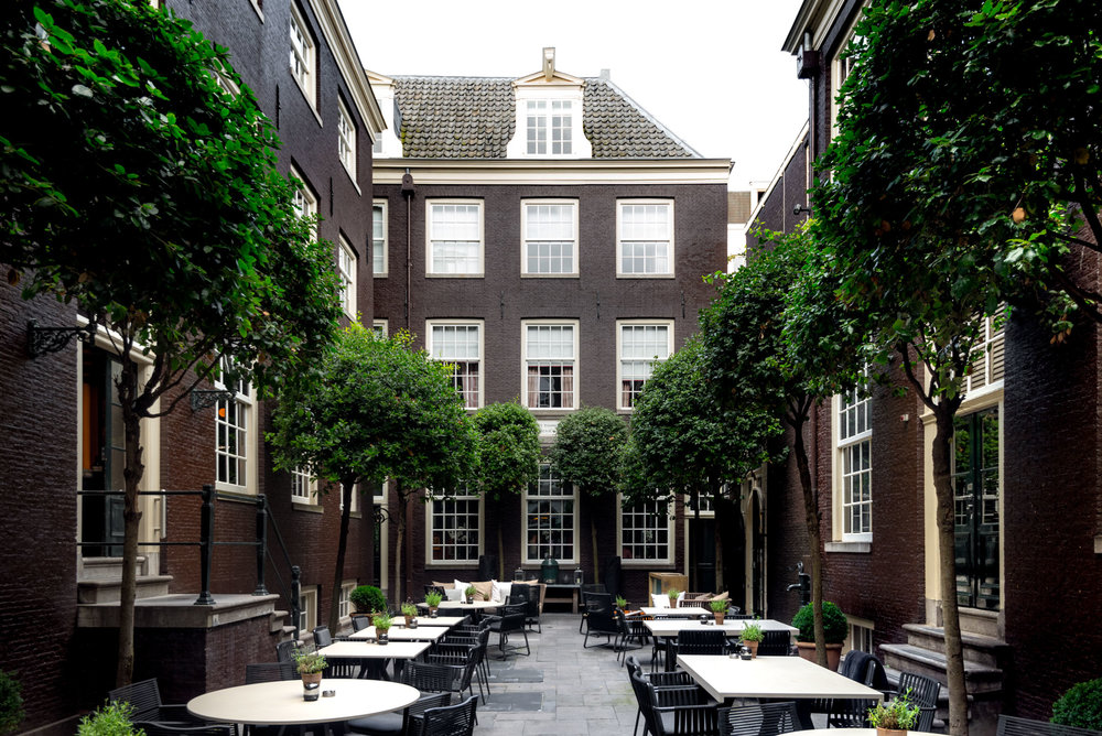 The Courtyard of The Dylan Hotel