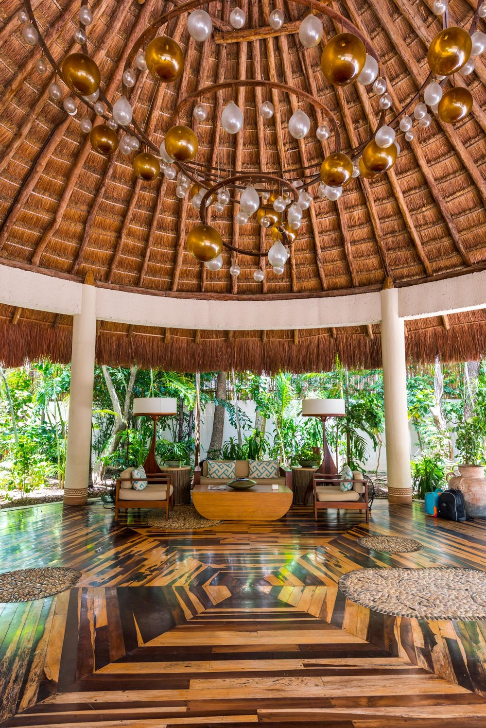 The lobby at the Viceroy, Riviera Maya