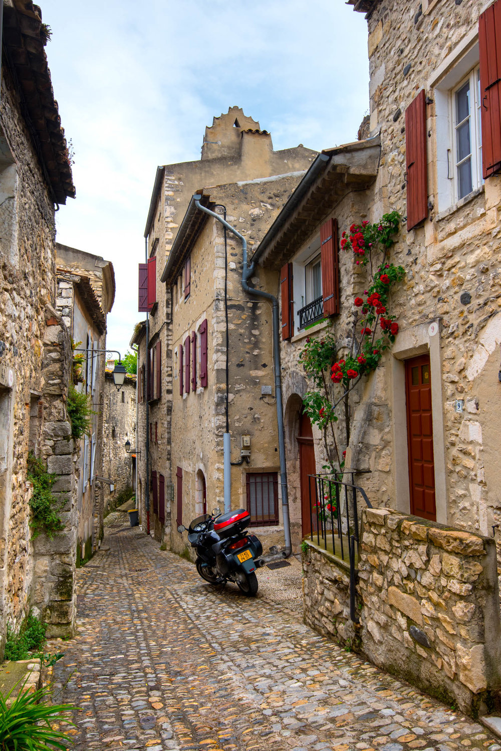 Walking through Viviers, France