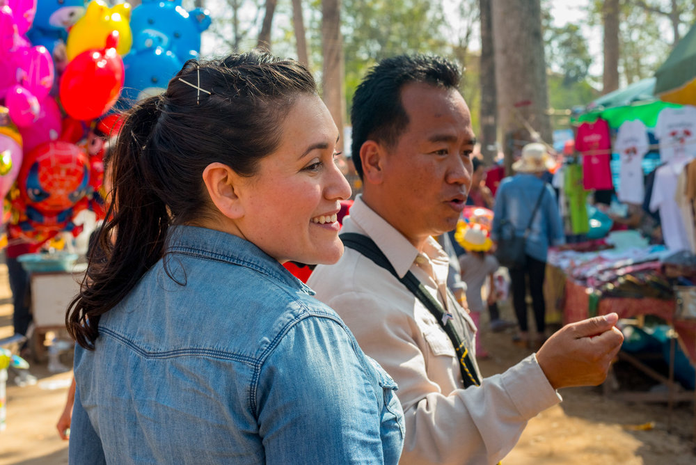 Visiting a local festival in Laos