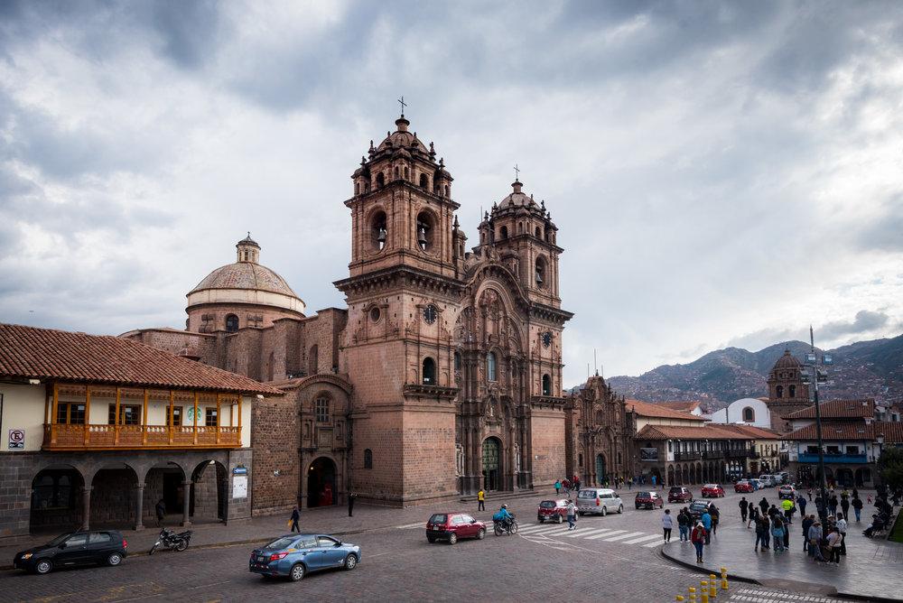 The historic city center of Cusco, Peru