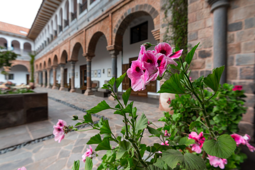 The tranquil courtyard provides welcome quiet
