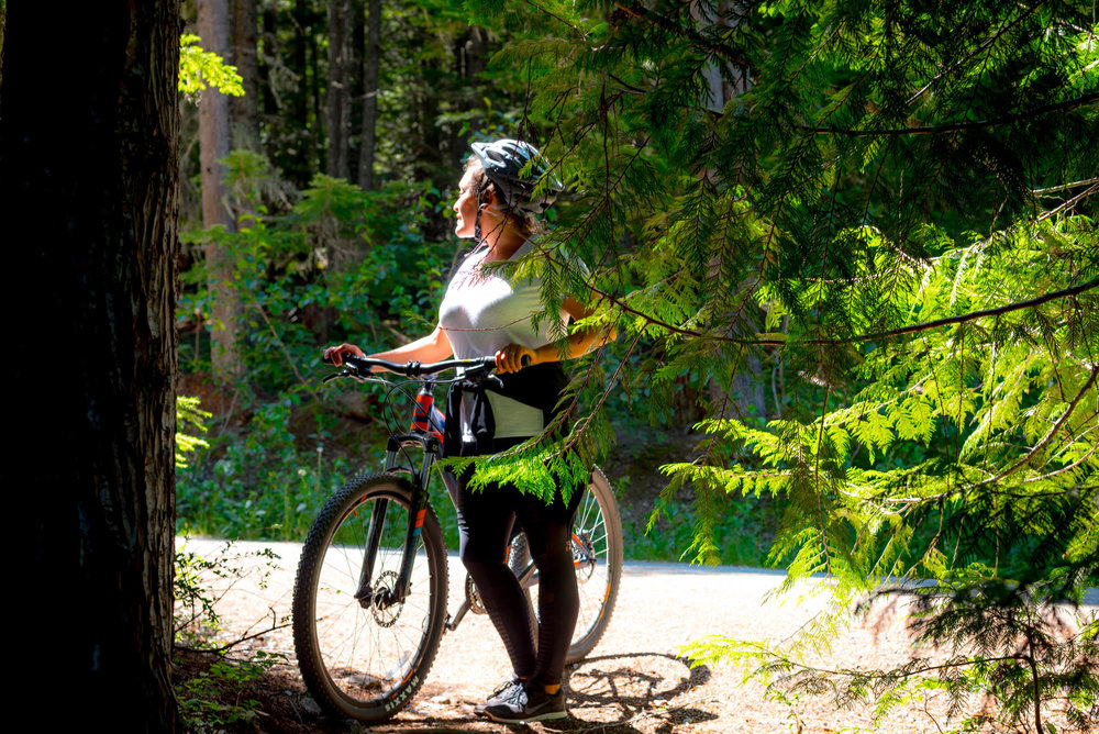 Biking around in Whistler, Canada