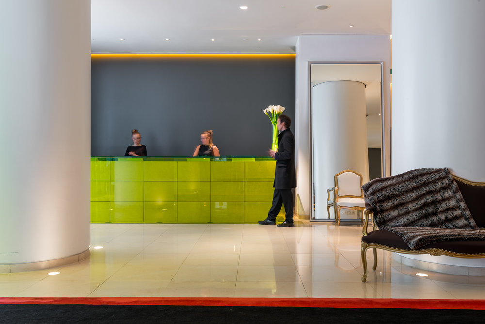 The Lobby of the St Martins Lane Hotel