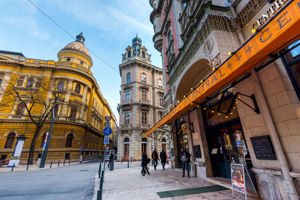 The charming streets of Budapest