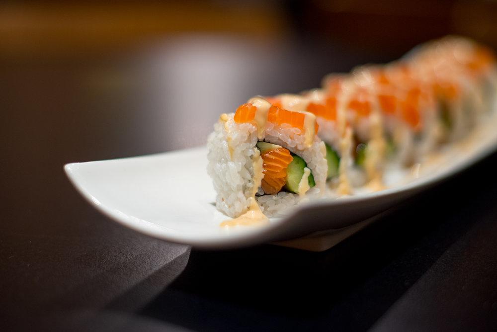 California inspired sushi rolls at Hagaki