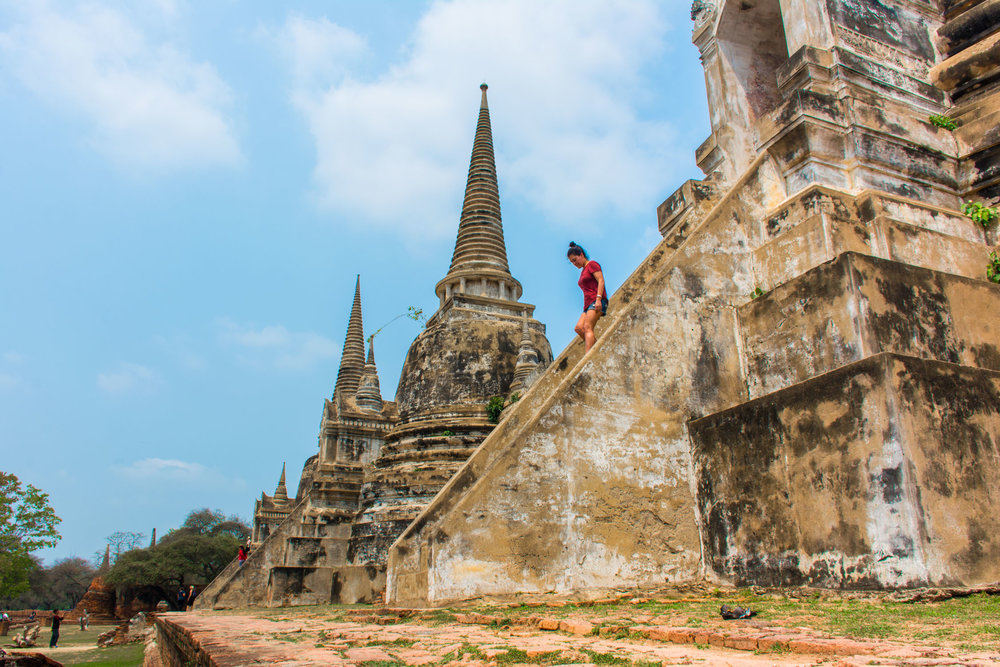 Climb the ancient steps of Wat Phra Si Sanphet