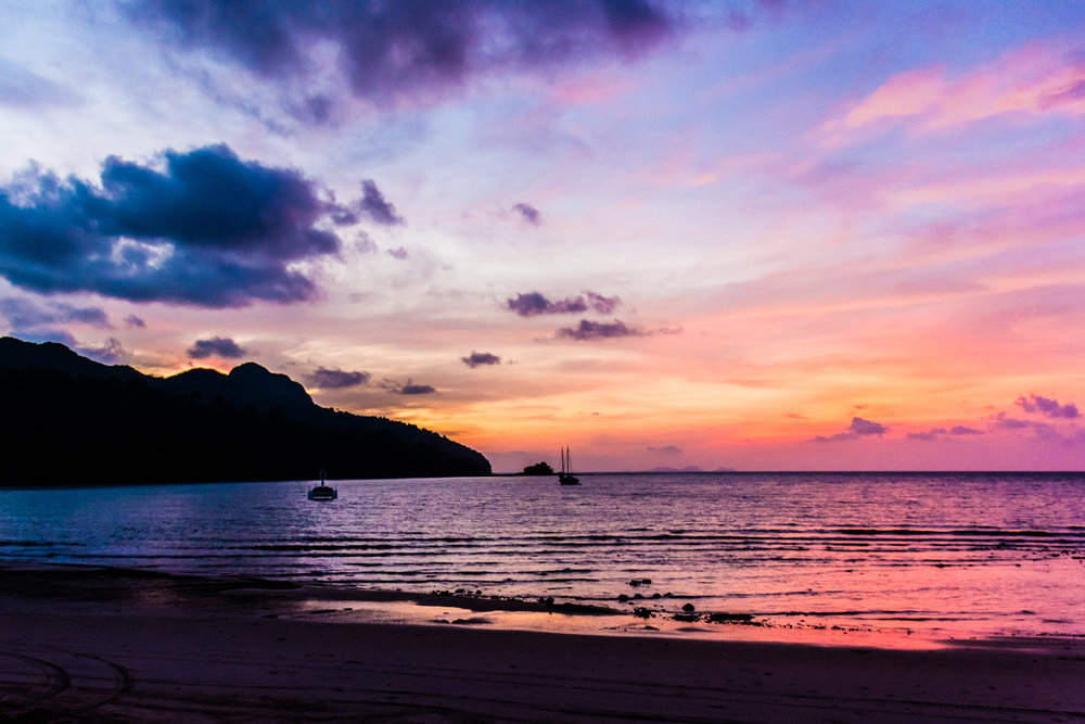 Sunsets on Datai Bay are magical, and having dinner on the beach is the best way to see them!