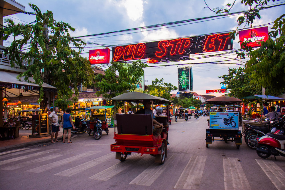 Pub Street is just a short Tuk-Tuk ride from the Le Meriden