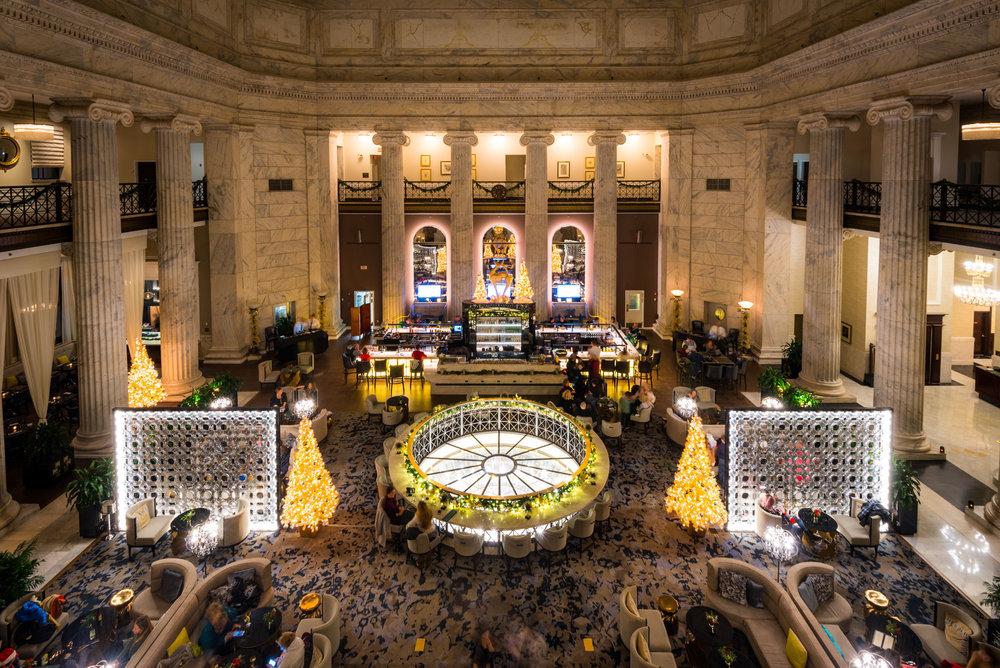 The grand lobby of the Ritz-Carlton, Philadelphia