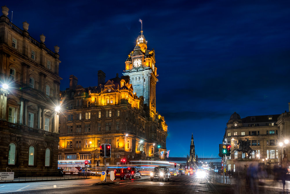 The Balmoral Hotel in Edinburgh, Scotland
