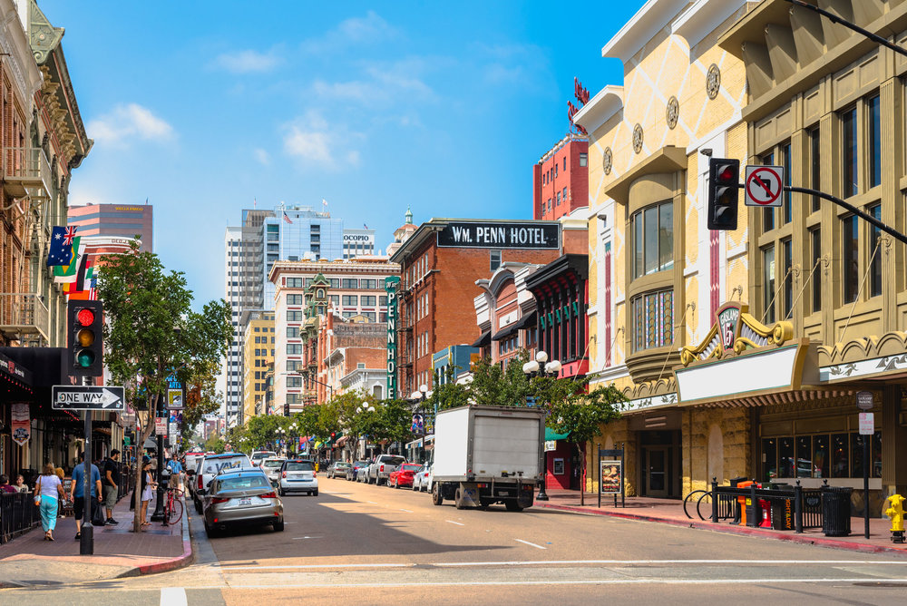 The Keathing Hotel is located in the heart of San Diego's Gaslamp Quarter
