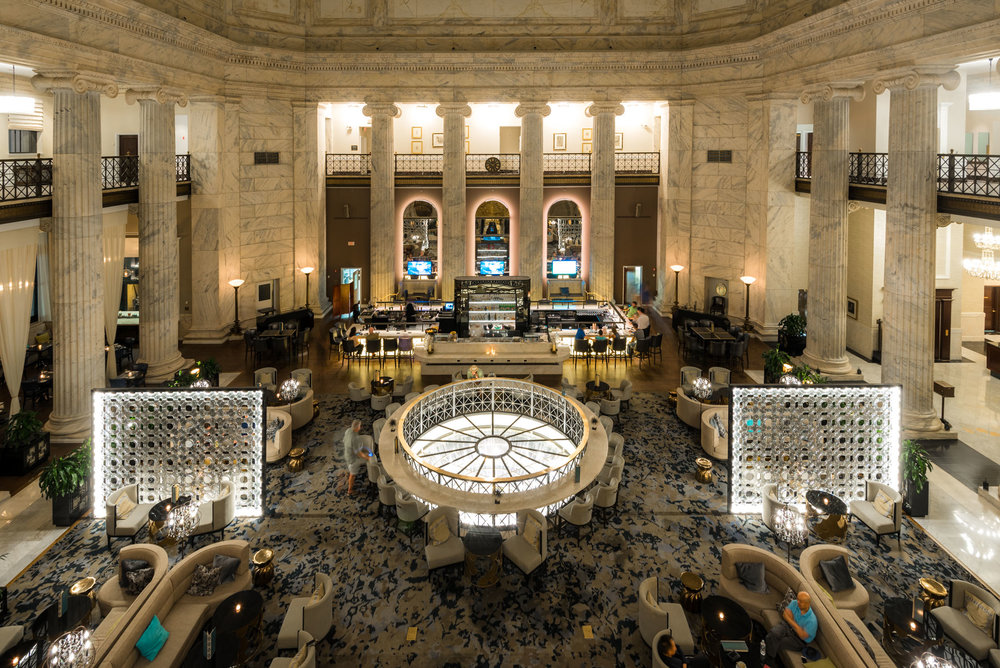 The lobby of the Ritz-Carlton Philadelphia is located in historic bank