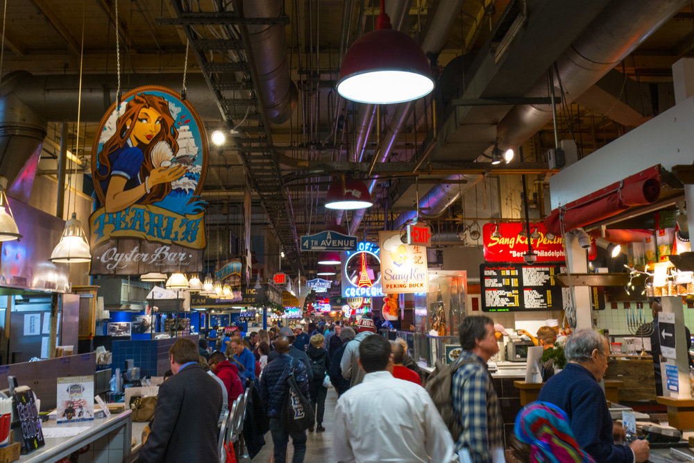 The Reading Terminal Market; A Philadelphia food mecca housed in a former train station