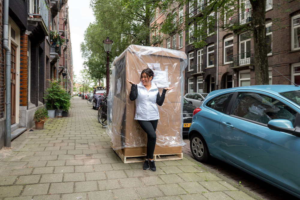 UpakWeShip moved our stuff door-to-door from United States to Europe in about 3 weeks!