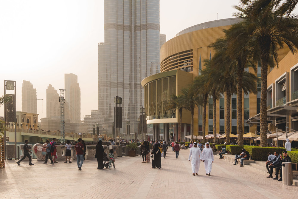 The Shangri-La runs a free hourly shuttle bus to many parts of the city, including the Dubai Mall