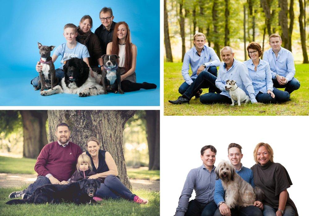 Familiefotograferinger med hund