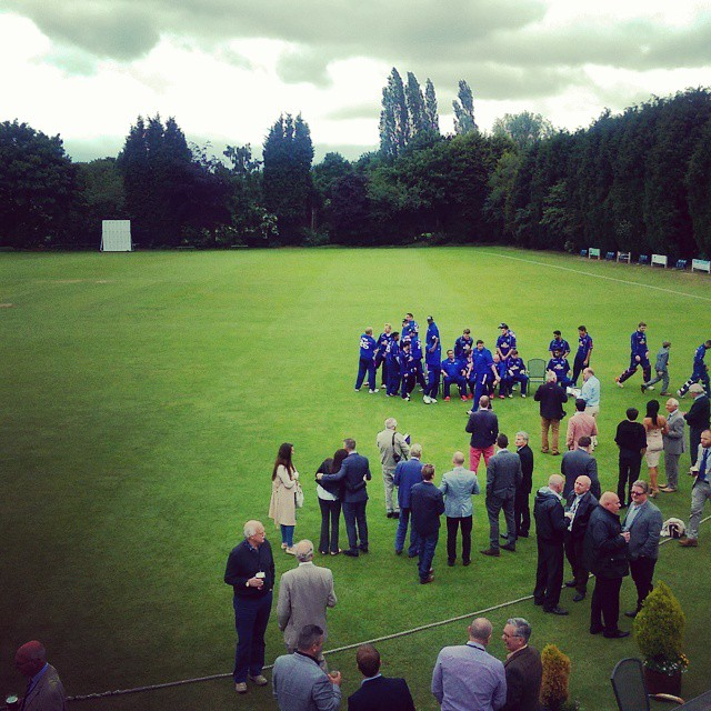 Great afternoon at the cricket with #dtz and #hilsonmoran #thejwleesenglandcricketchallenge #cricket #monton #mcr #pcateam