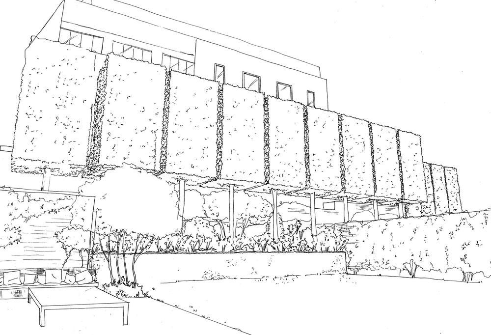 Exterior Architecture Sketch London private garden