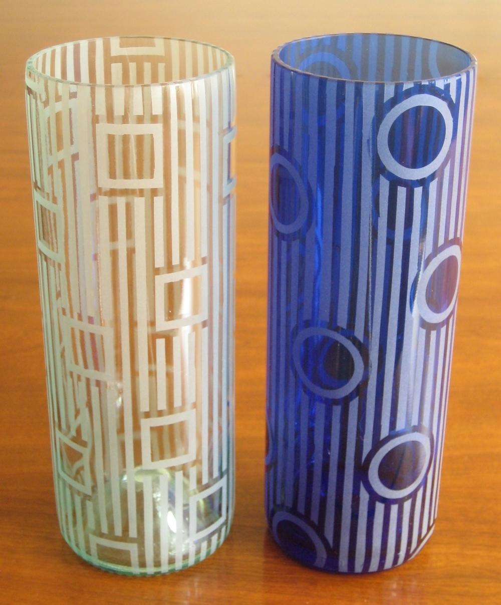 Stripes & Squares - $50 / Blue Striped Polka $60