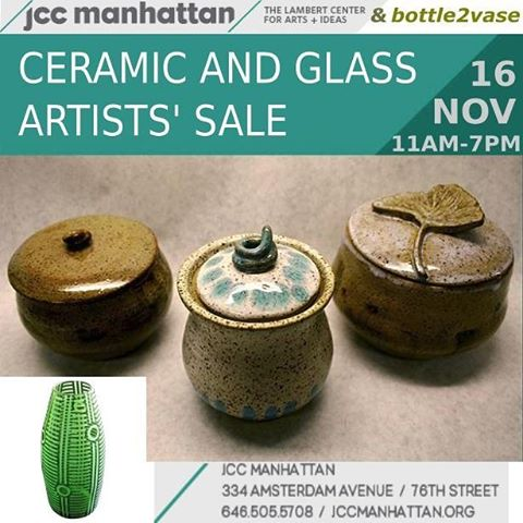 COMING THIS WEDNESDAY! If you're interested in picking up some gifts in time for Thanksgiving, the @jccmanhattan is hosting a ceramics and glass show from 11AM to 7PM.  I'll have a table just past the lobby entrance.  Hope to see you there! #jccmanhattan #upperwestside #newyorkcity #manhattan #nyc #holidaygifts #crafts #ceramics