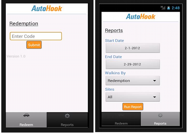 AutoHook Mobile App Screens
