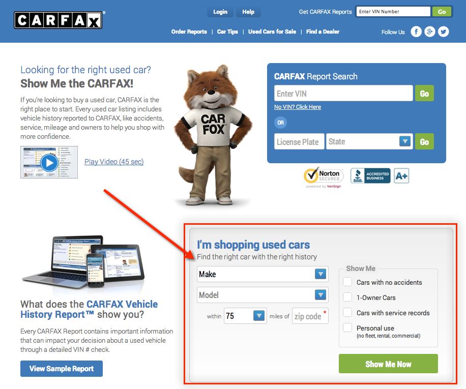 carfax_used_car_search