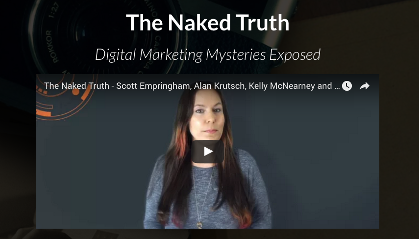Join us Tuesday, August 8th at 9:30 AM for THE NAKED TRUTH!