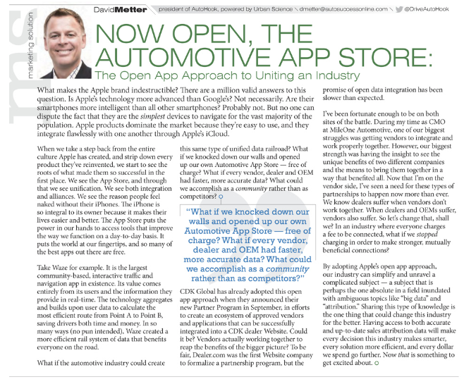 * Content featured in the October 2016 edition of AutoSuccess Magazine