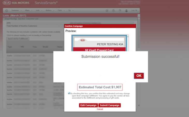 STEP 4: Preview and confirm your campaign and hit submit.