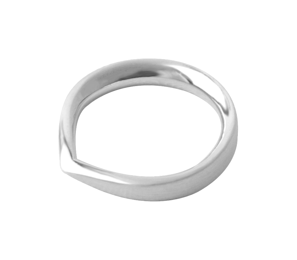 Toppen RIng - 18K Fairtrade White Gold