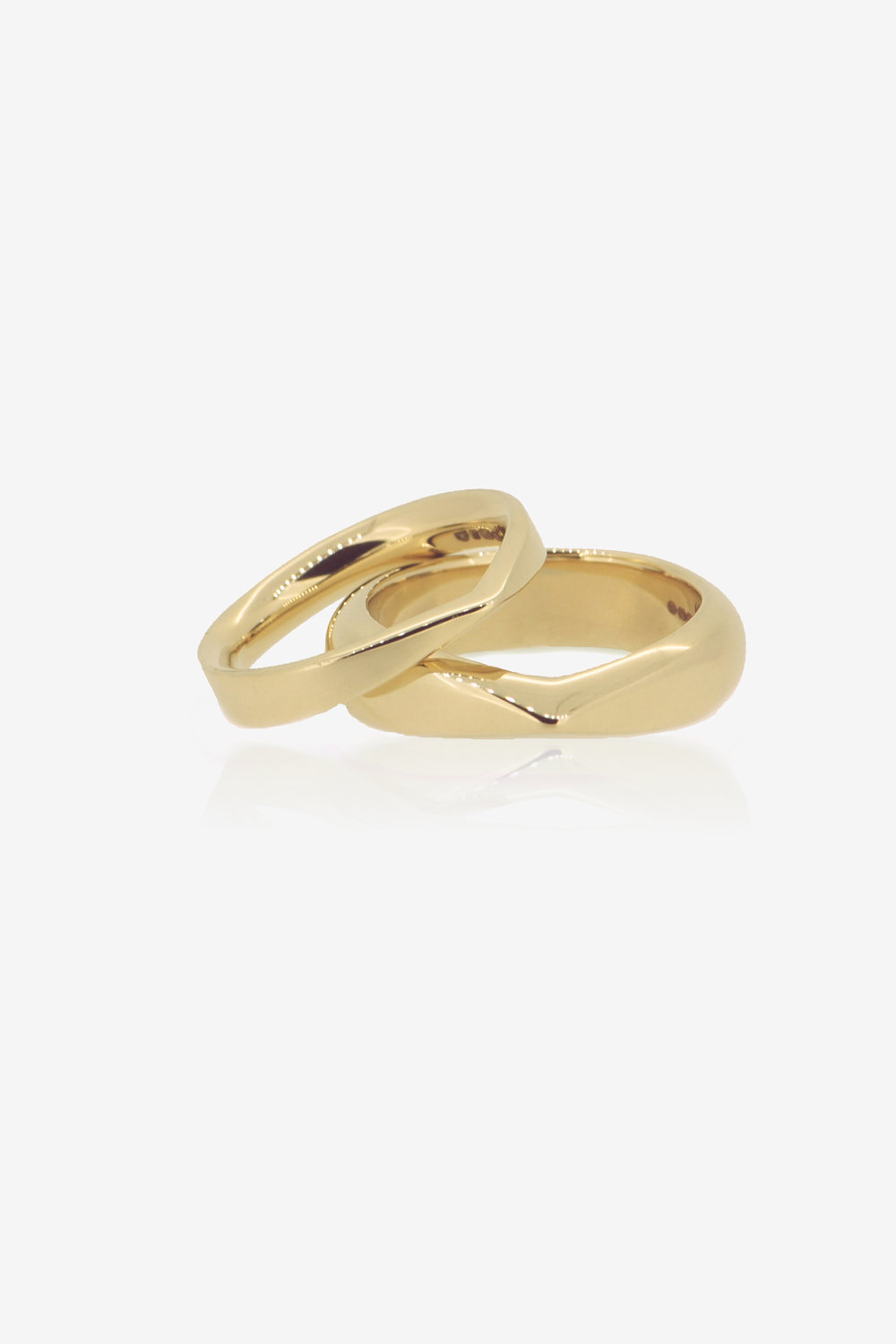 9K Fairmined Eco Gold Iskoras wedding bands