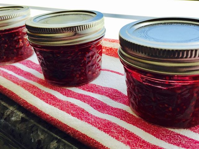 Jammin' today thanks to an abundance of ripe raspberries!