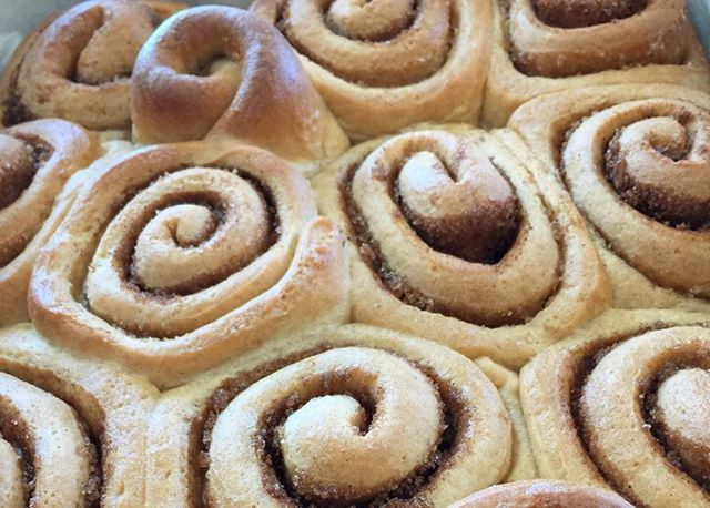 We are really sad that we can't share the smell of these freshly baked cinnamon rolls... @petiterougebakery #smellavision #lifeissweeter