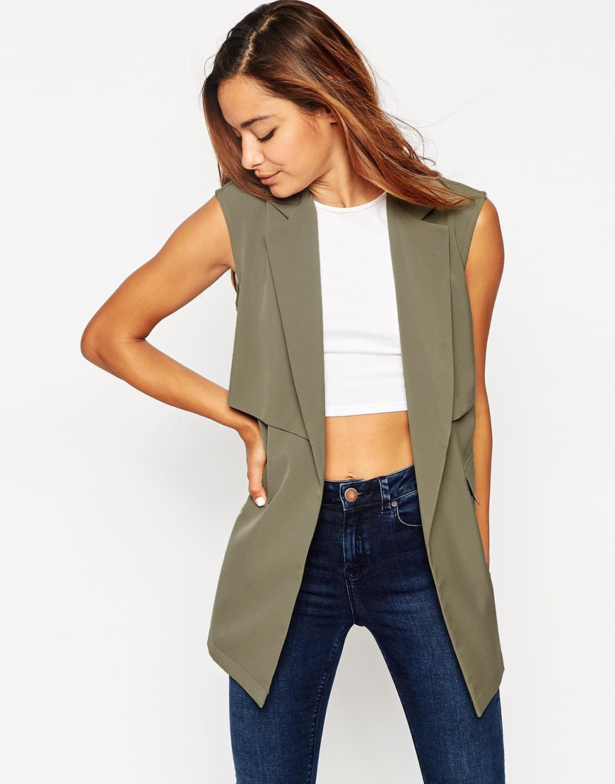 ASOS SLEEVELESS TRENCH JACKET