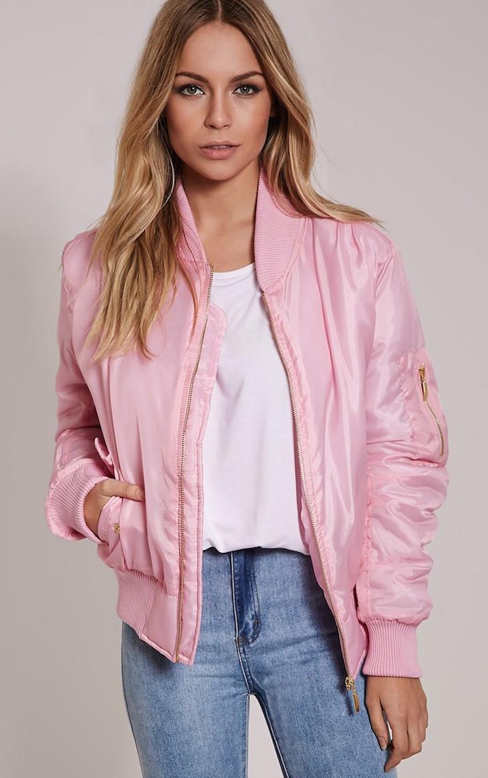 It Closet Pink Bomber Silver Girl