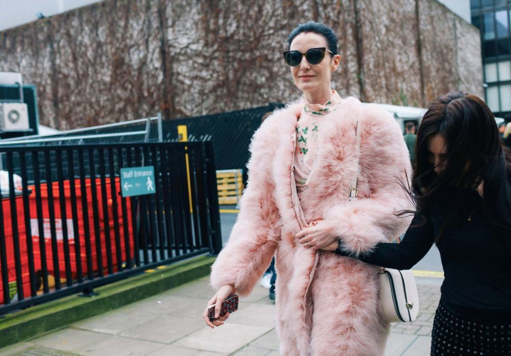 Erin O'Connor in Topshop Unique