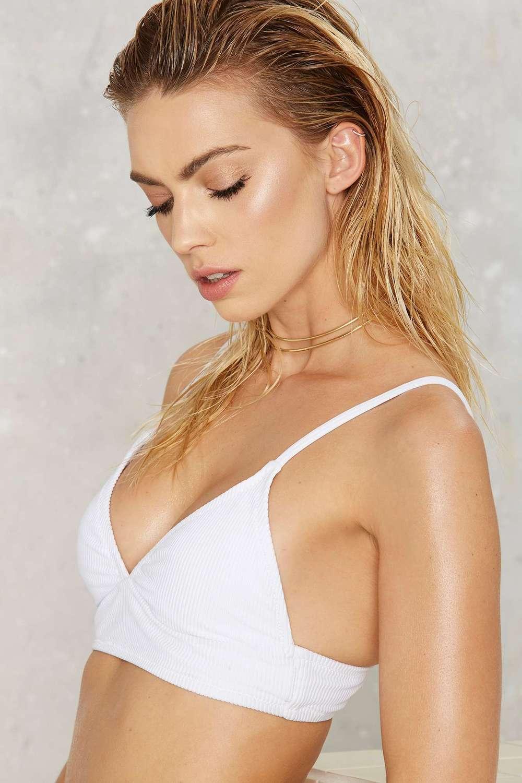 Nasty Gal Alina Mix & Match Plunging Bikini Top