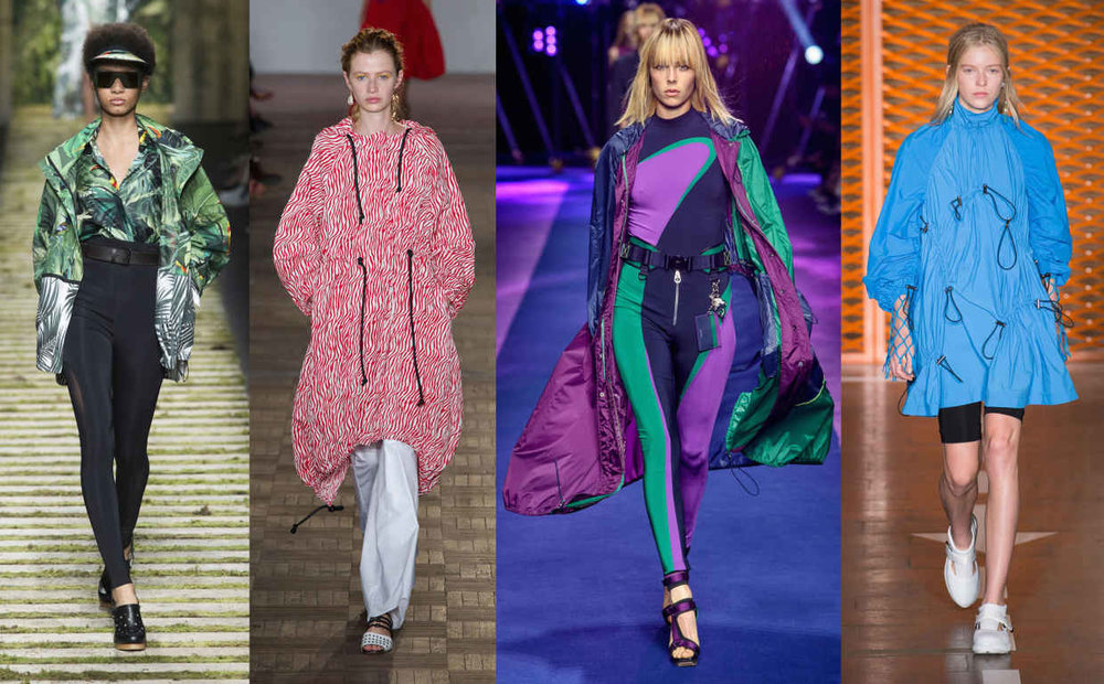 Looks from L-R: Max Mara, Sportmax, Versace and MSGM. Photos: Imaxtree