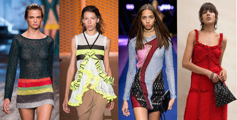 Looks from L-R: Missoni, MSGM,   Versace   and   Attico  . Photos: Imaxtree (3), Courtesy of Attic