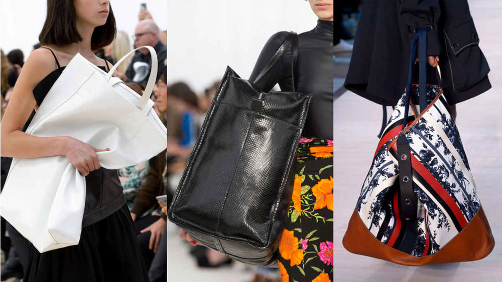 From left: Celine, Balenciaga and Sonia Rykiel. Photos: Imaxtree