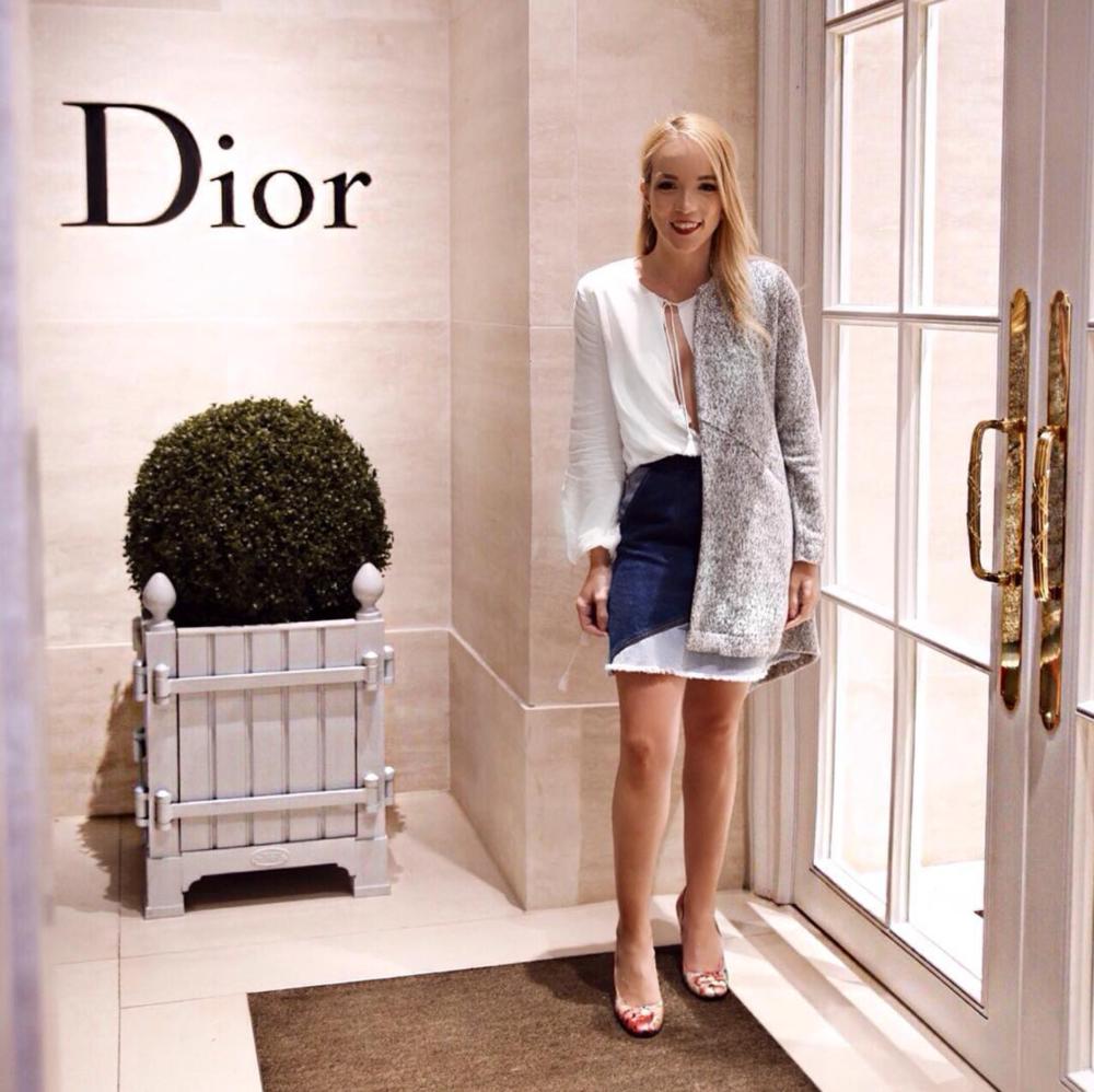 dior luxury shopping london fashion week