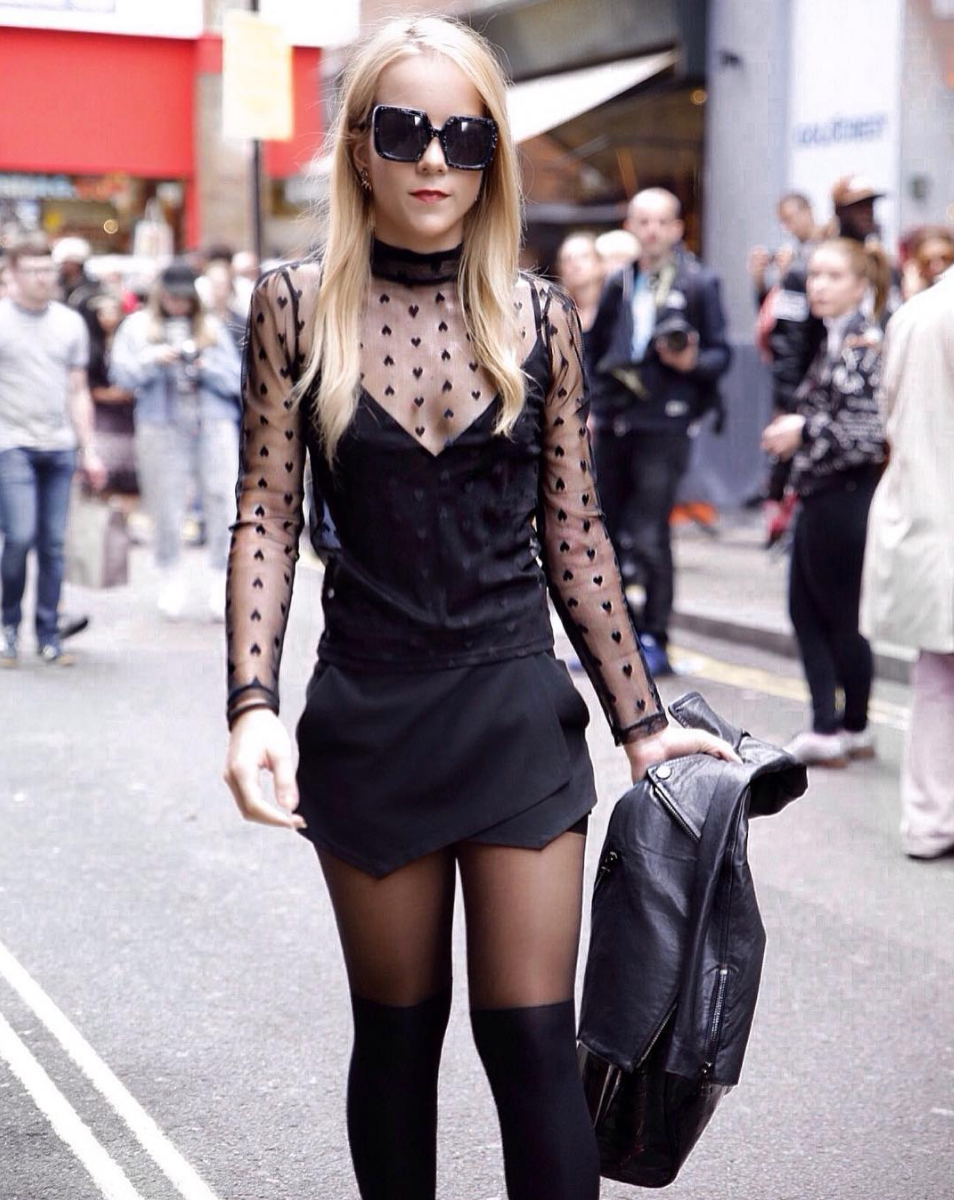 london fashion week street style fashion show