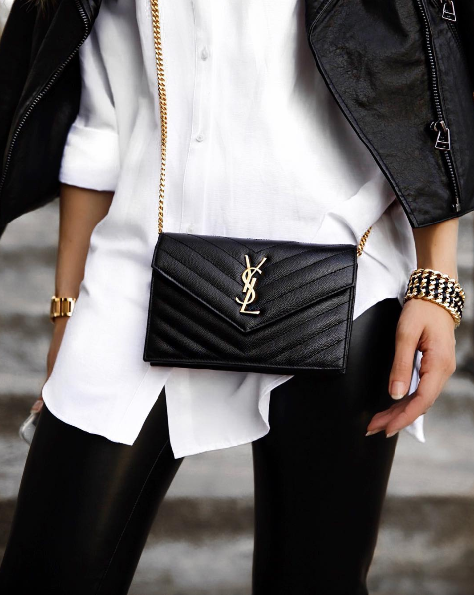 YSL leather bag silvergirl