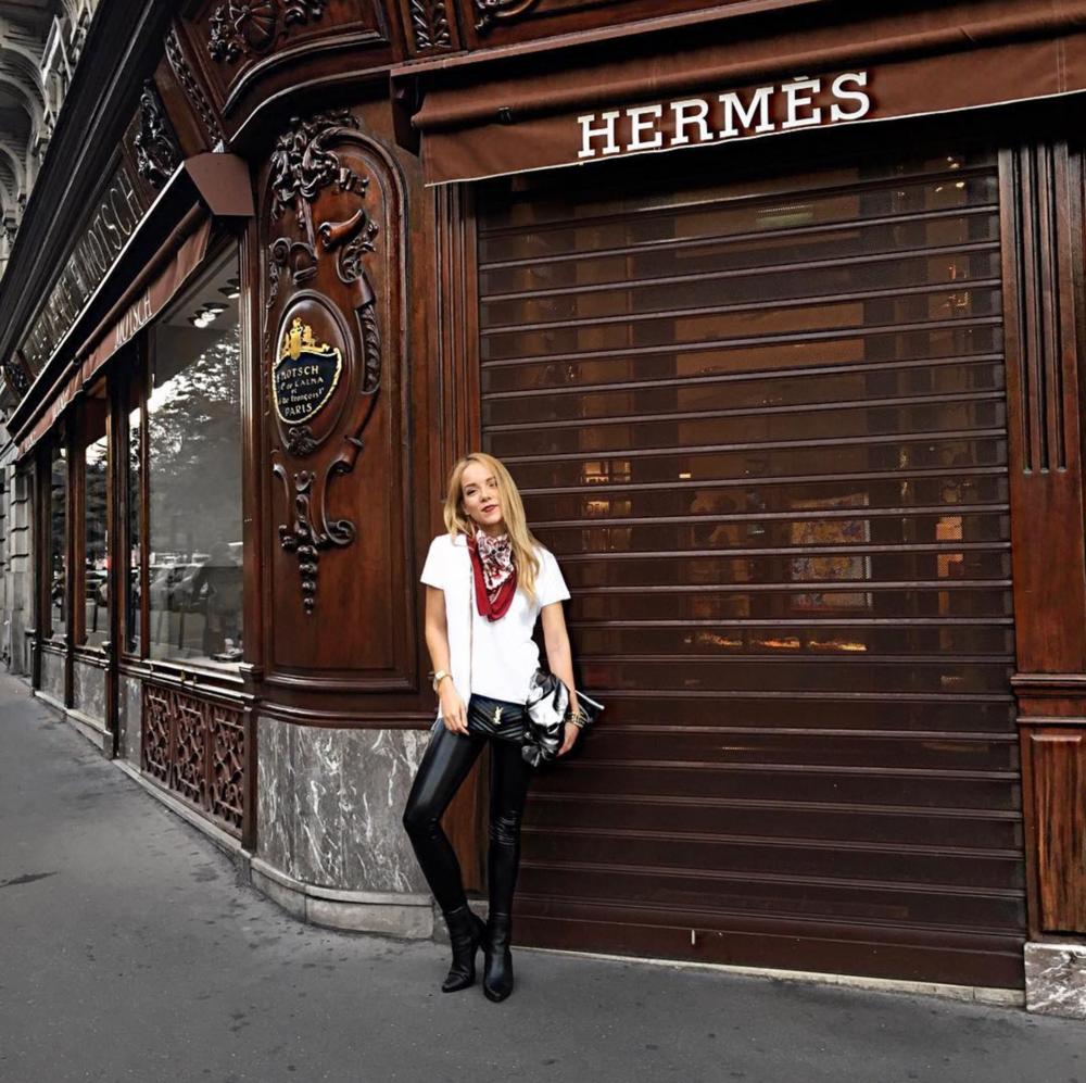 hermes champs elysees paris street style silvergirl
