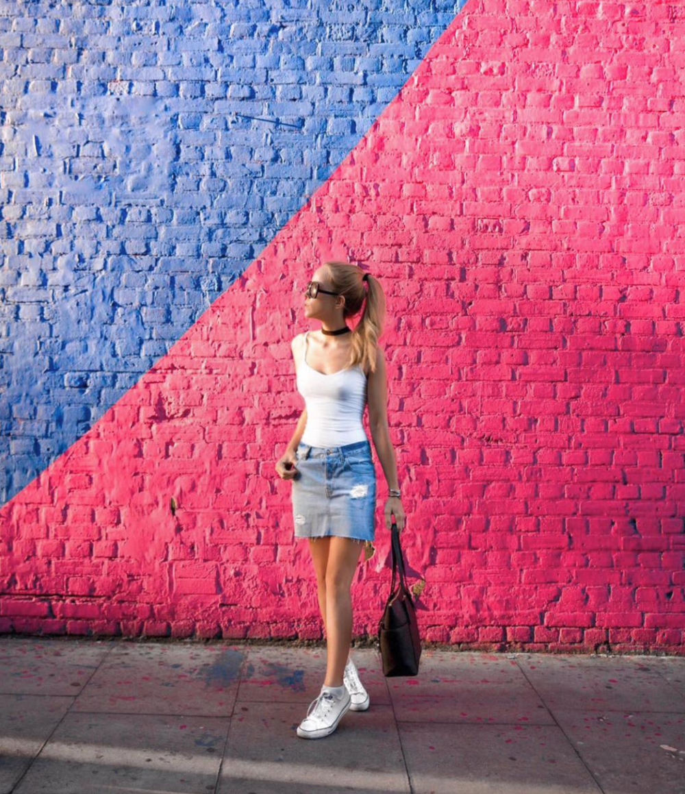 denim skirt street style east london instagram miasoarez