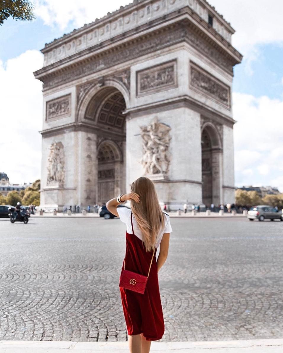 red velvet shirt under dress paris fashion week trend
